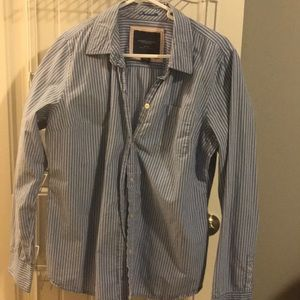 American Eagle Pinstriped Button Up